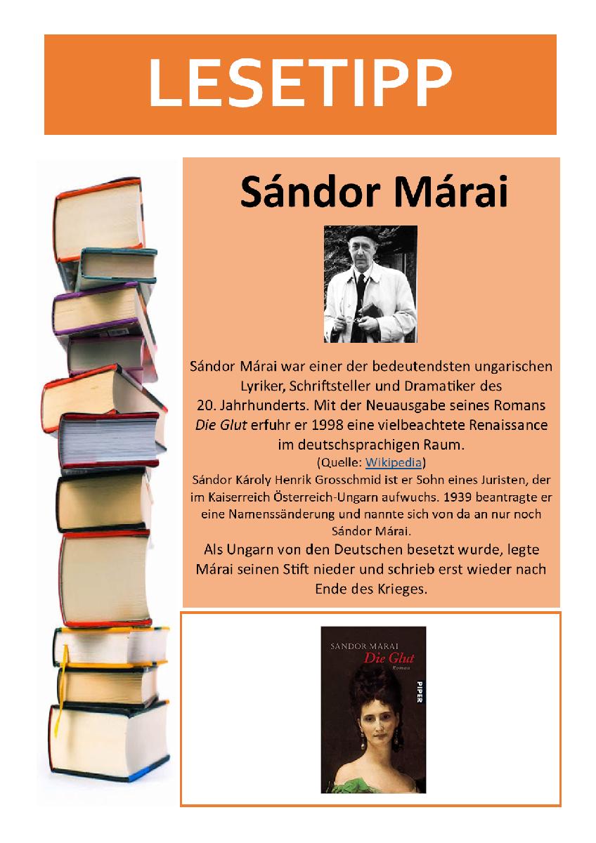 Lesetipp 21-06-10 Sándor Márai