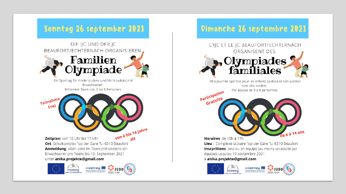 Familien-Olympiade | Olympiades familiales - Beaufort 26.09.2021