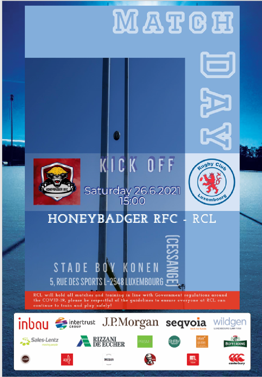 First Men's Match for 15 months this Saturday 26th June