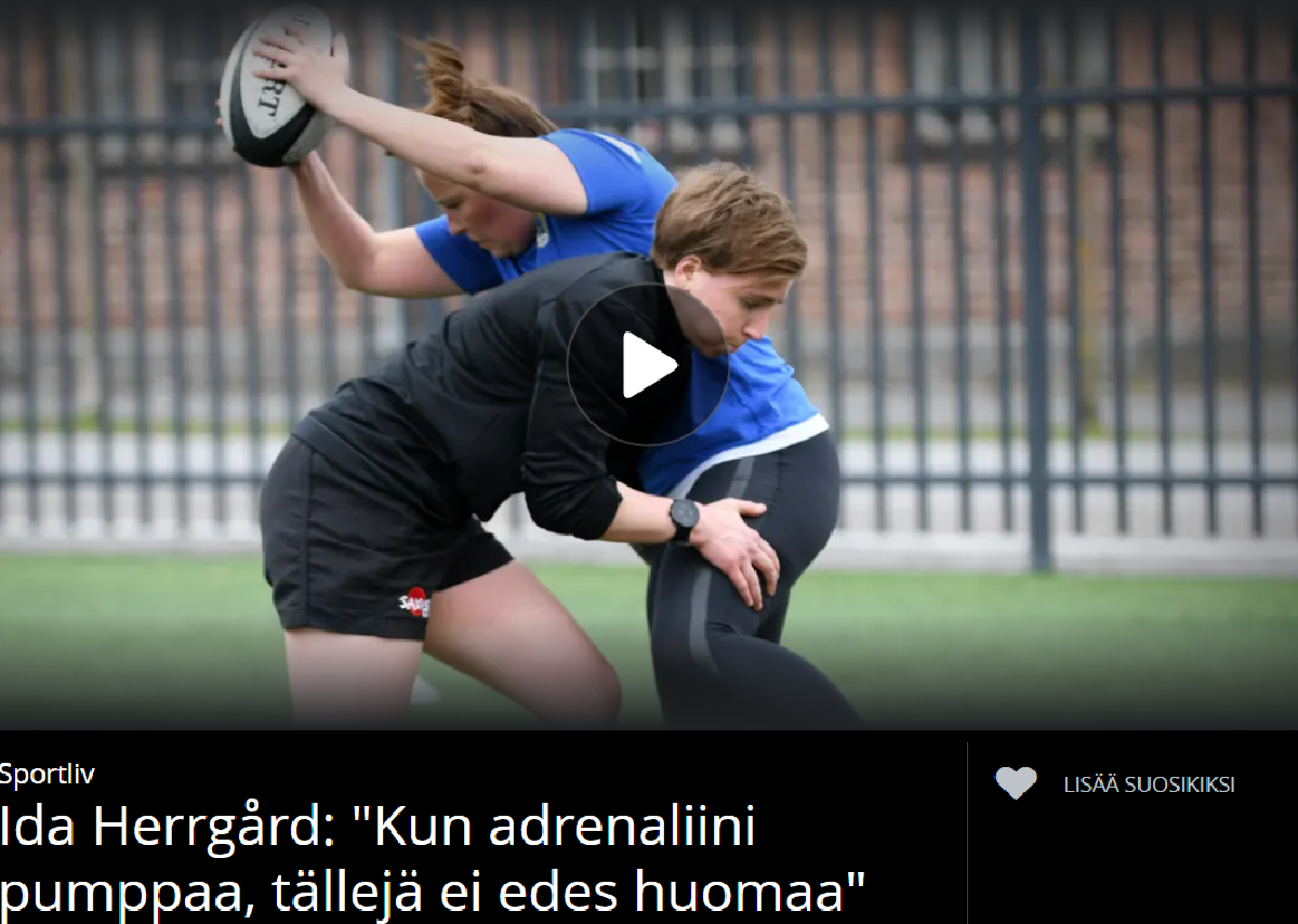 Maajoukkuepelaaja Ida Herrgård Sportliv-ohjelmassa