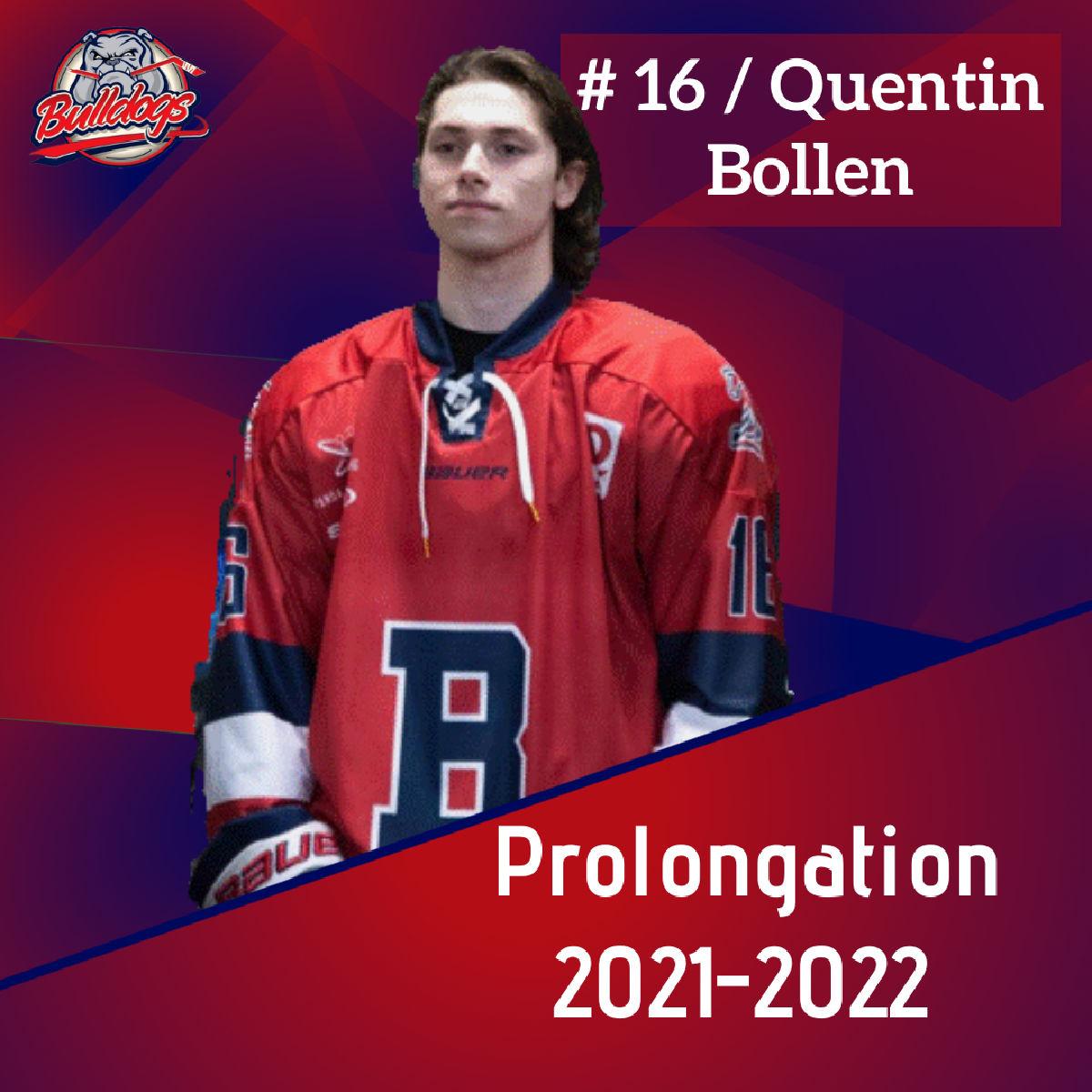 Prolongation pour Quentin Bollen avec les Bulldogs de Liège