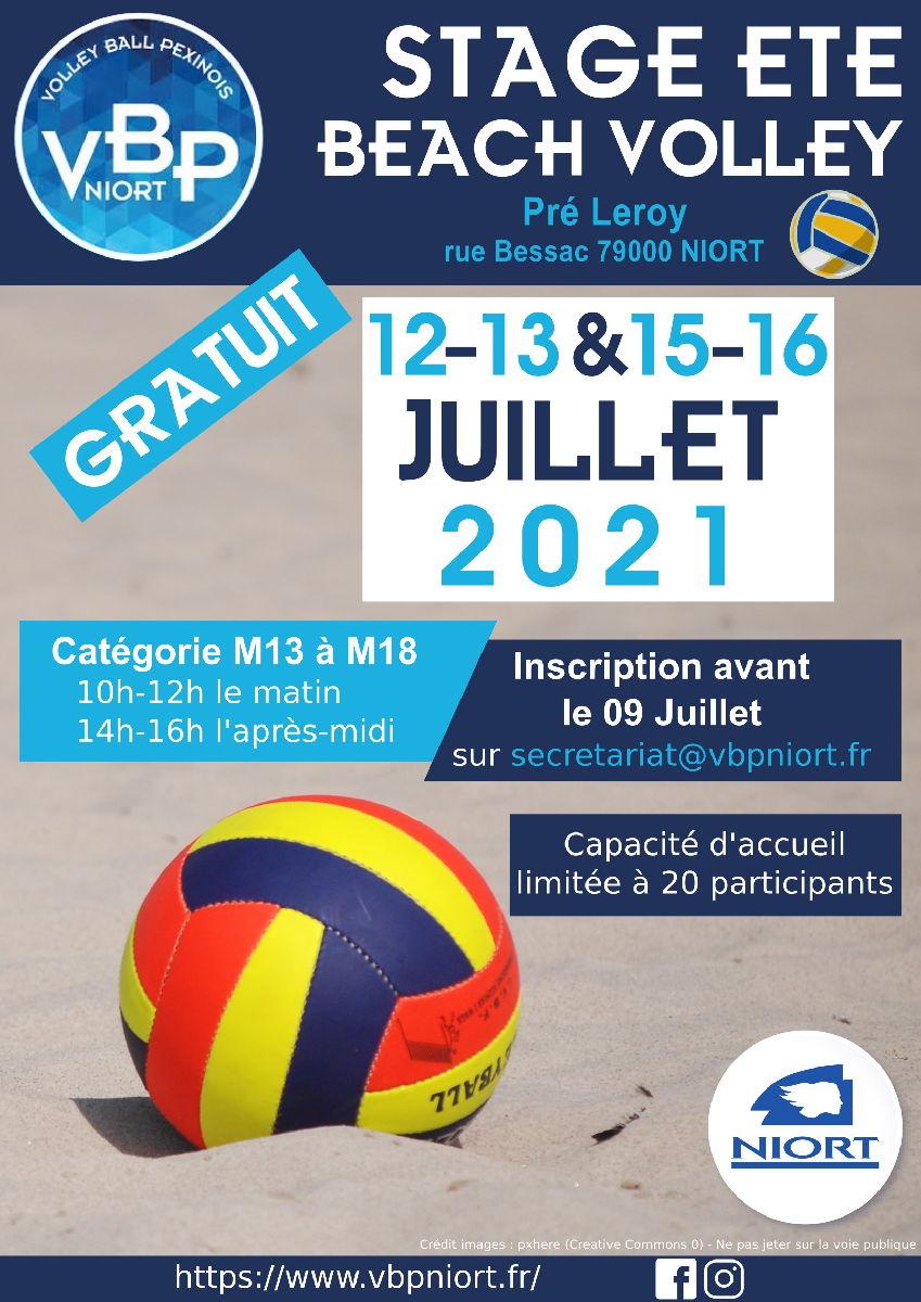 Stage beach 12, 13 et 16 juillet à Pré-Leroy