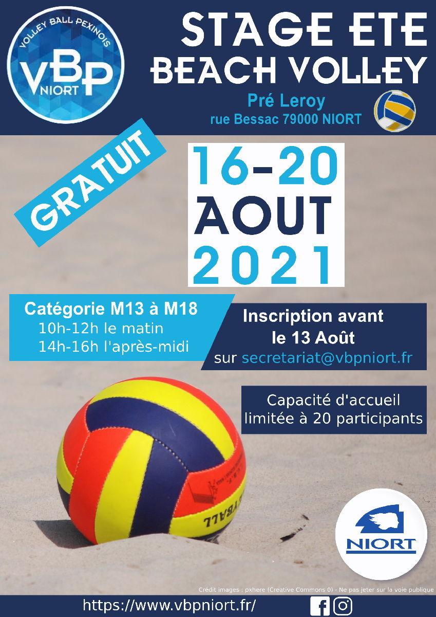 Stage beach GRATUIT du 16 au 20 août à Pré-Leroy 10-12h et 14-16h