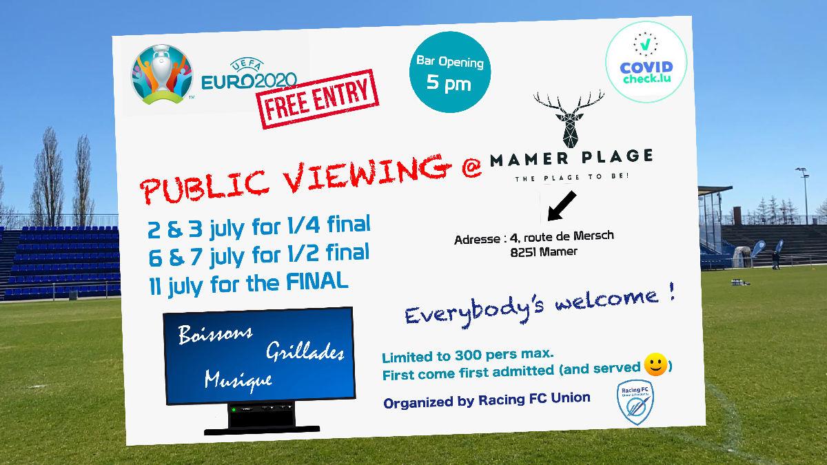 Évènement : Public Viewing à Mamer Plage