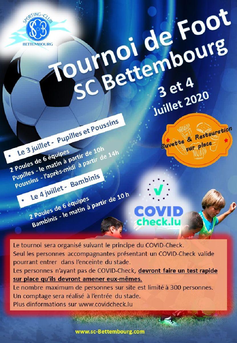 Tournoi SC Bettembourg U7 , U9 , U11 le 3 et 4 juillet