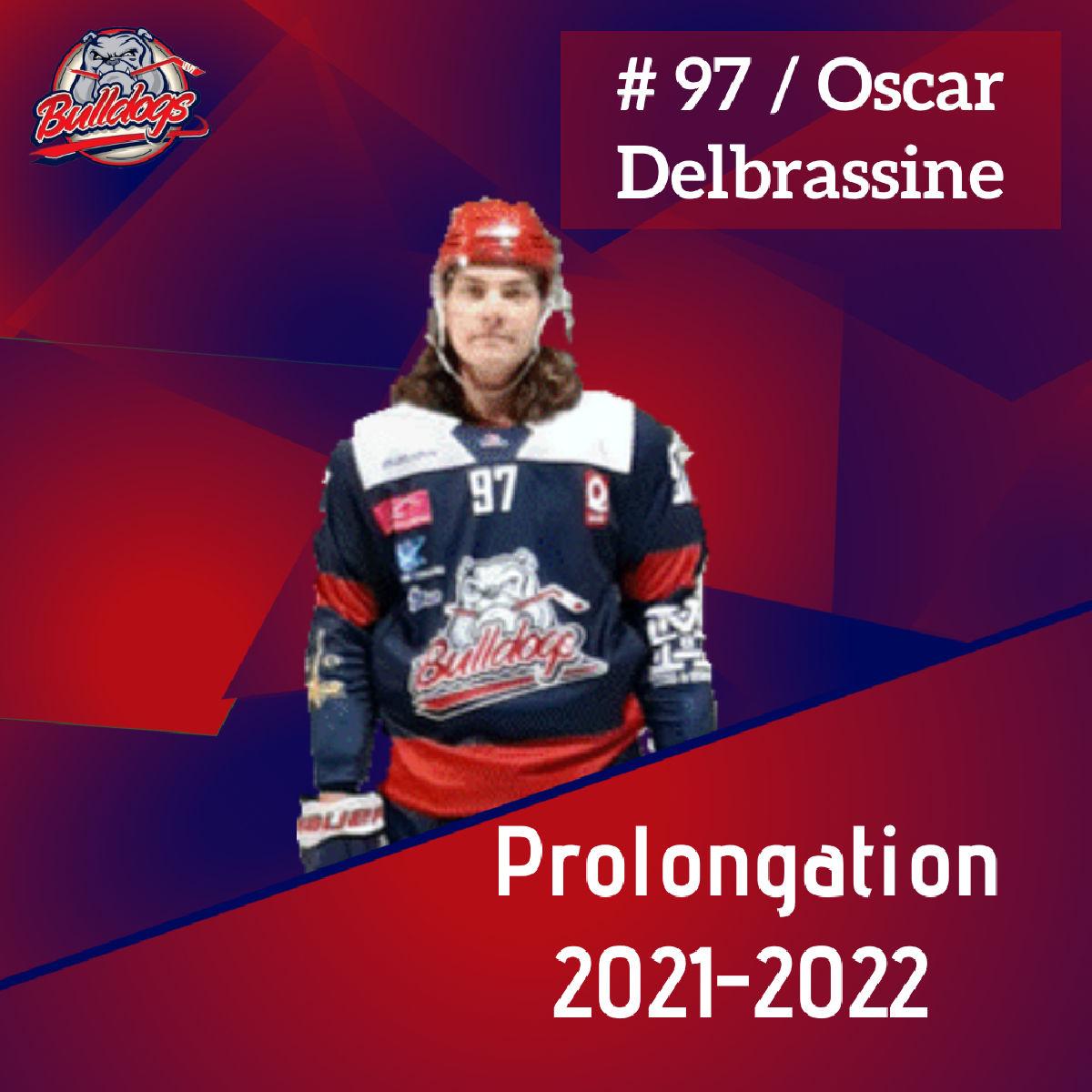 Prolongation pour Oscar Delbrassine avec les Bulldogs de Liège