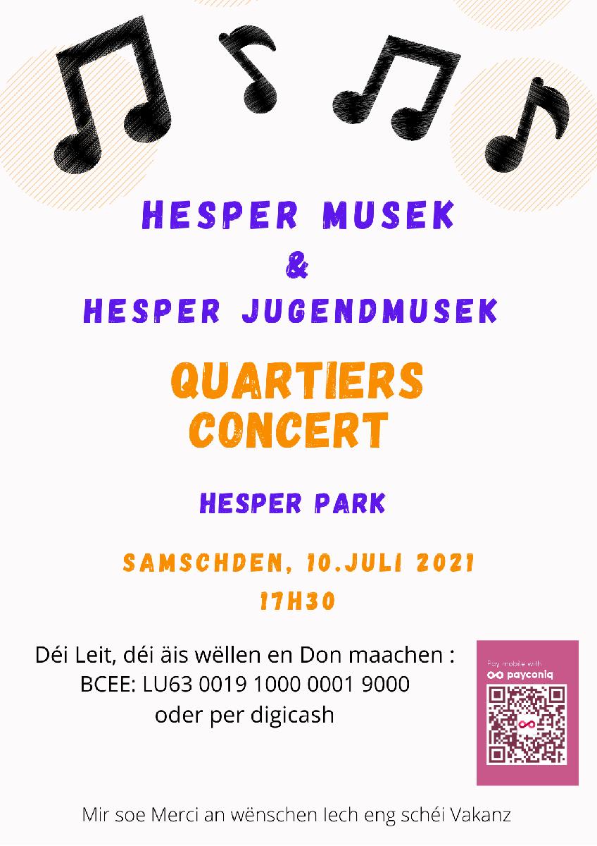 Quartiersconcert Hesper Park 10.07.21