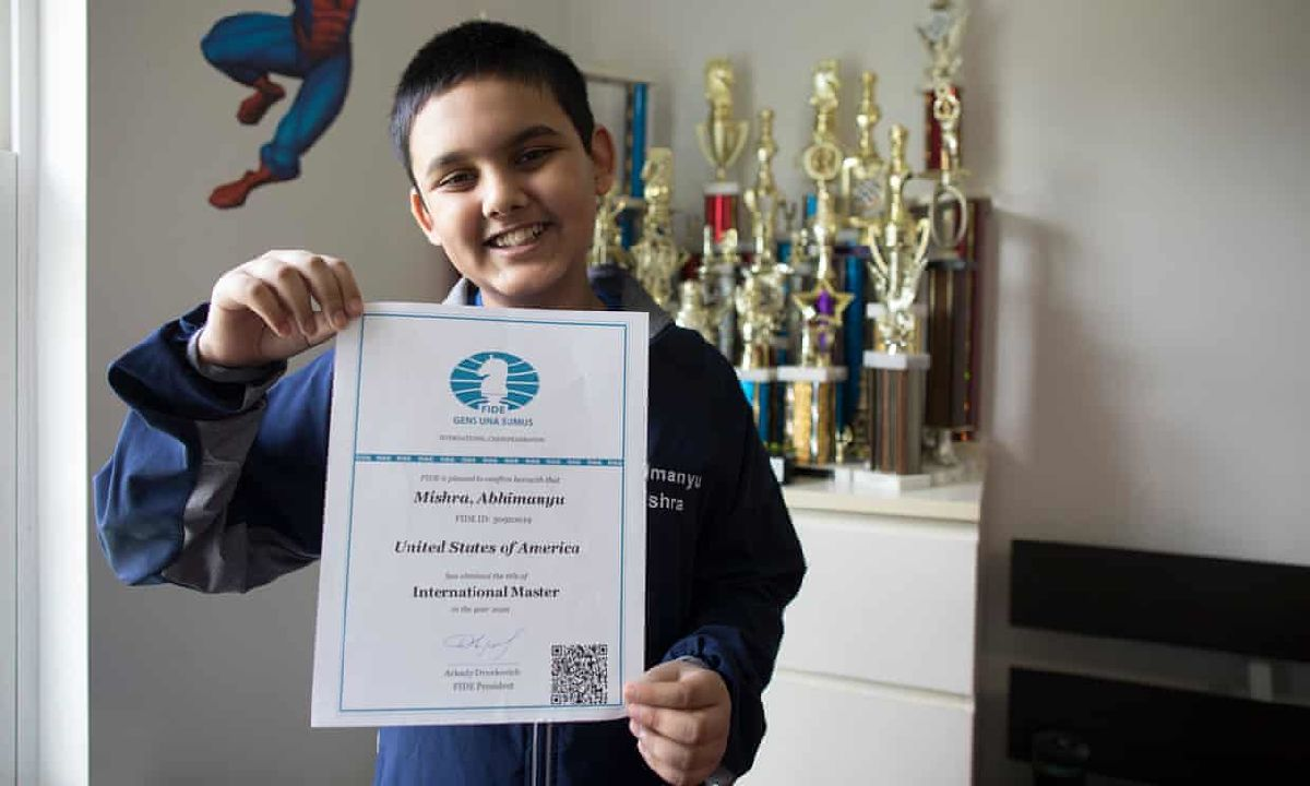 12-year-old Abhimanyu Mishra breaks youngest grandmaster record