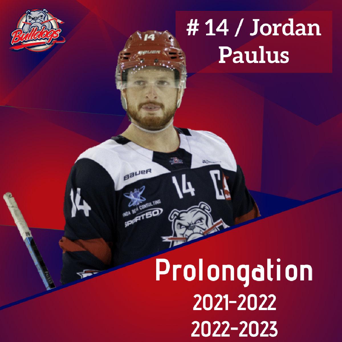 Prolongation pour Jordan Paulus jusqu'en 2023