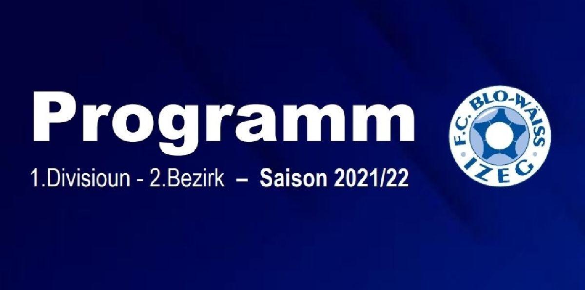 SENIORS 1 - PROGRAMM SAISON 2021/22