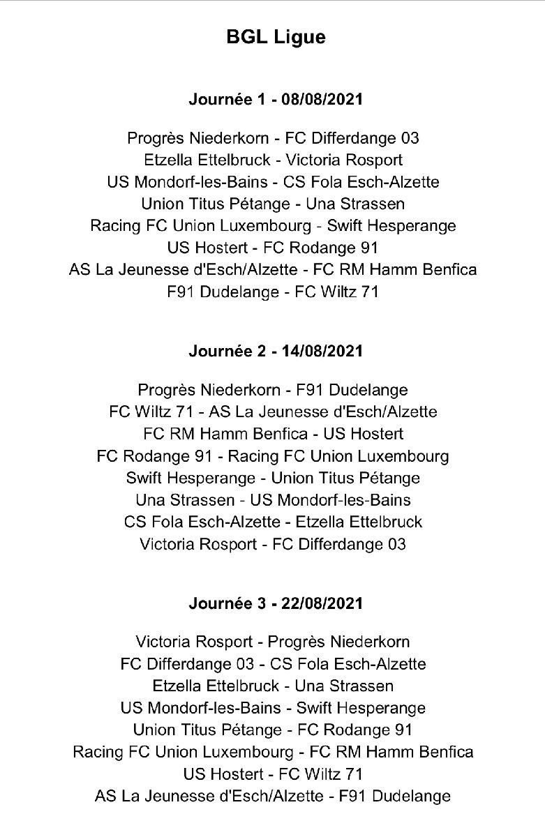 USH - FC Rodange als Optakt an di nei Saison !