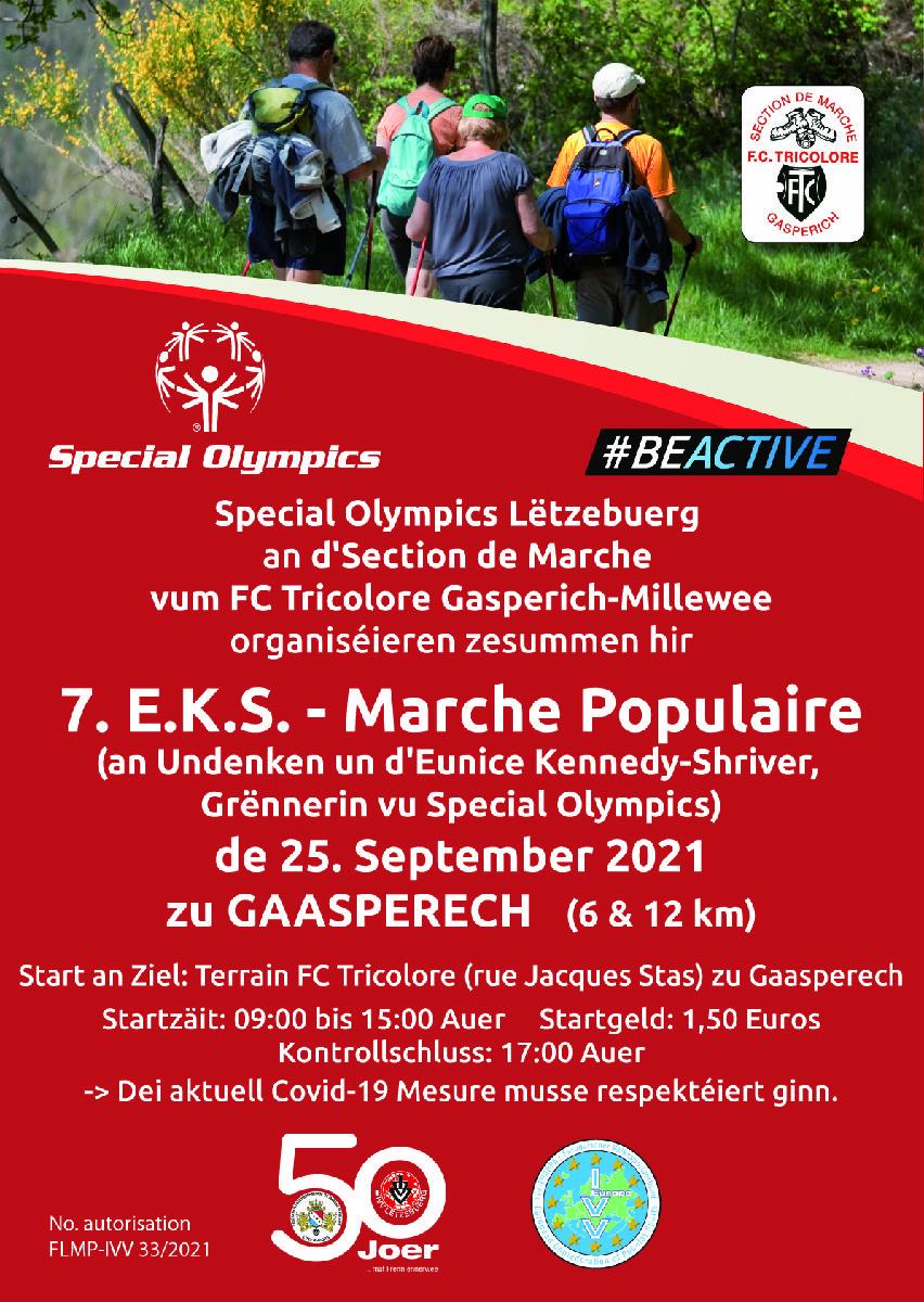 7. E.K.S. - Marche populaire 25/09/2021 zu Gaasperech