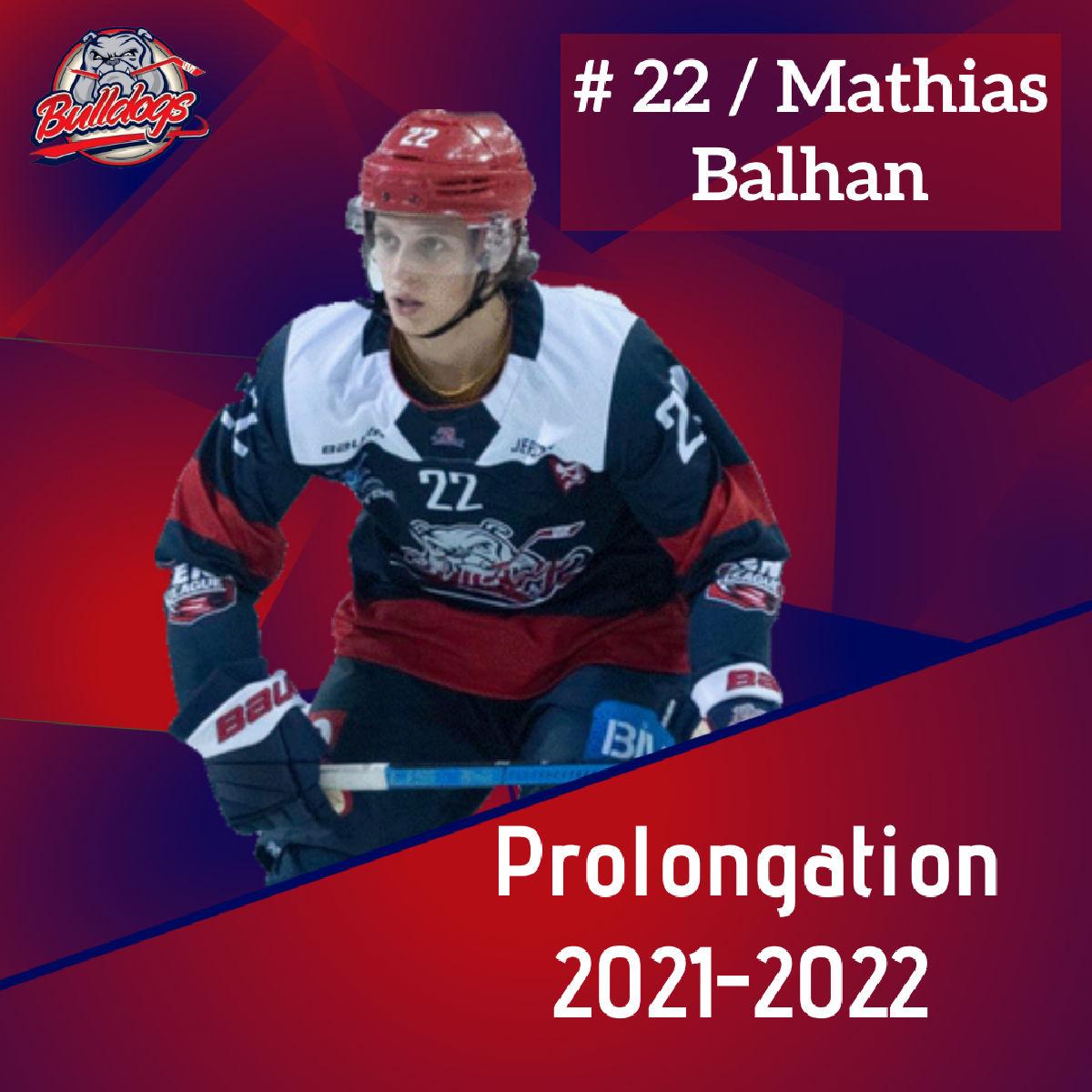 Prolongation pour Mathias Balhan avec les Bulldogs de Liège