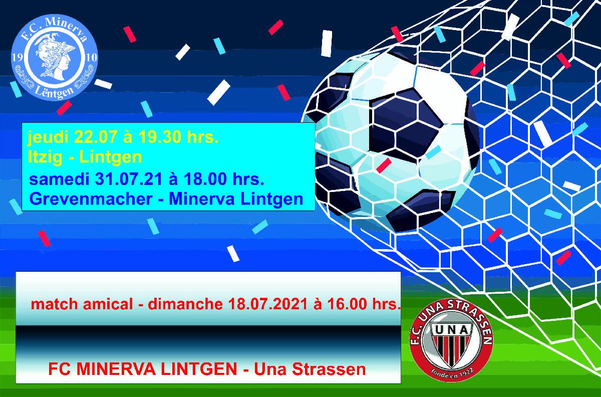 match amical - dimanche 18.07.21