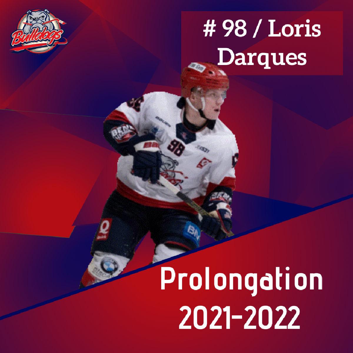 Prolongation pour Loris Darques
