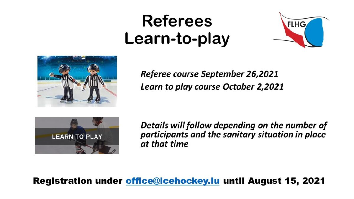 Referee and Learn to play course