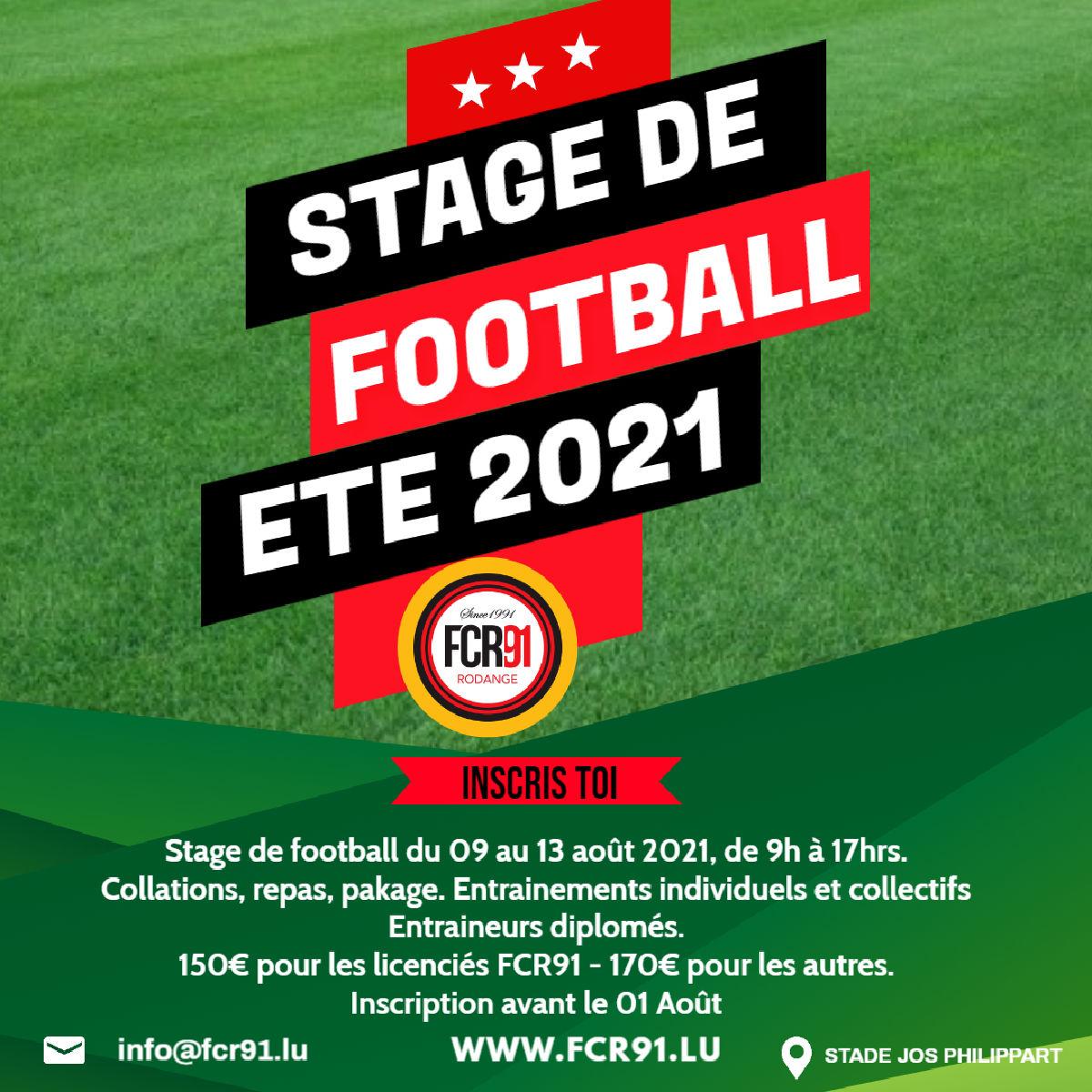 Stage de football Août 2021