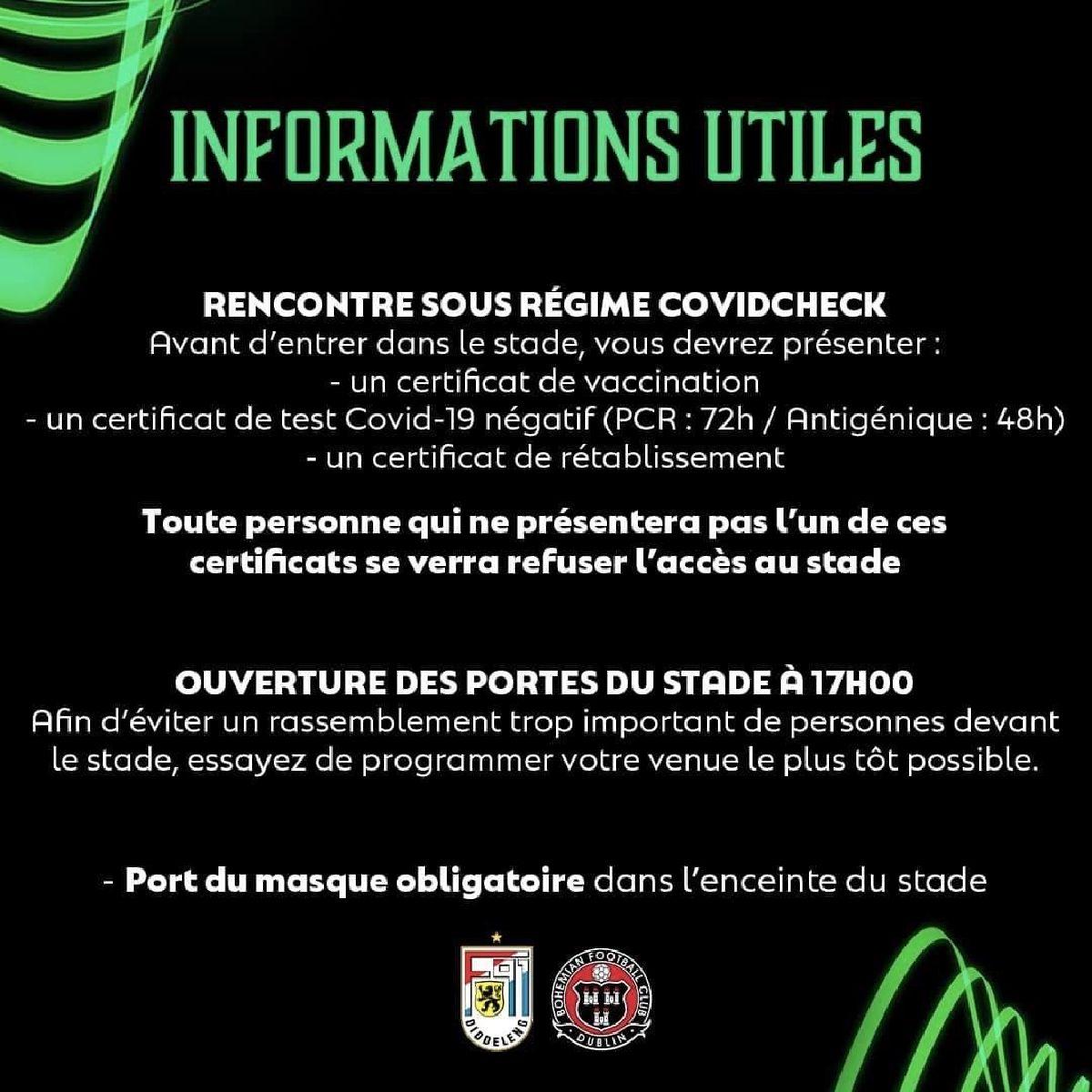 Informations aux spectateurs !