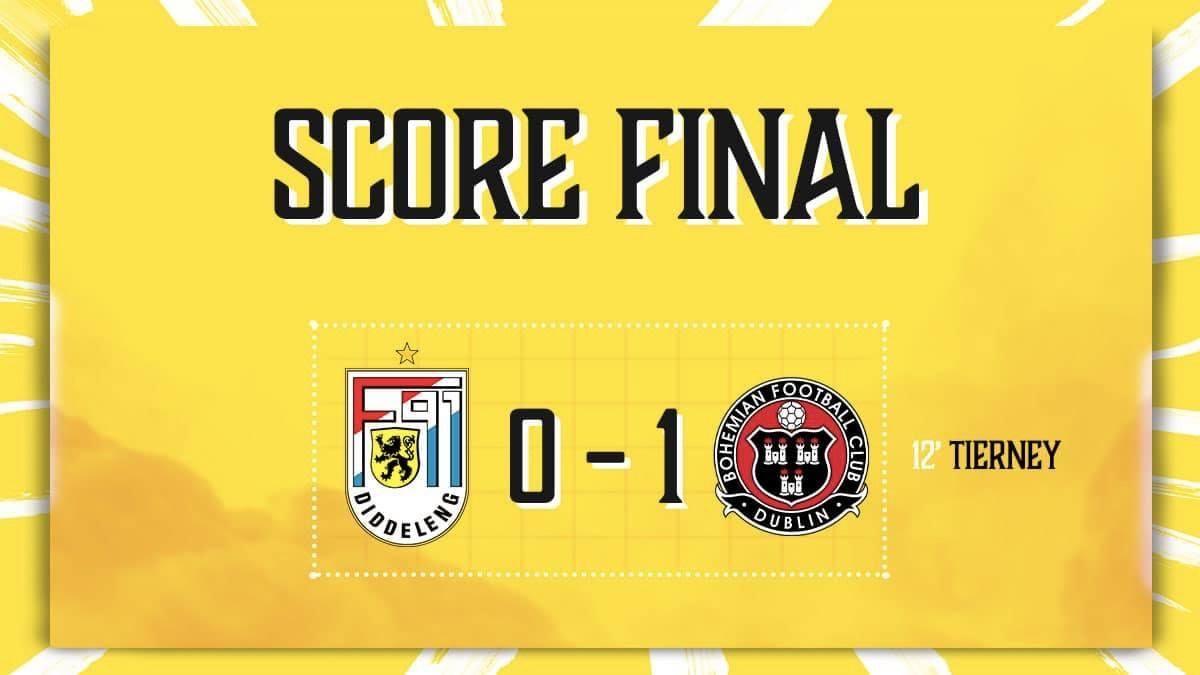 F91 Diddeleng - Bohemian FC Dublin 0-1