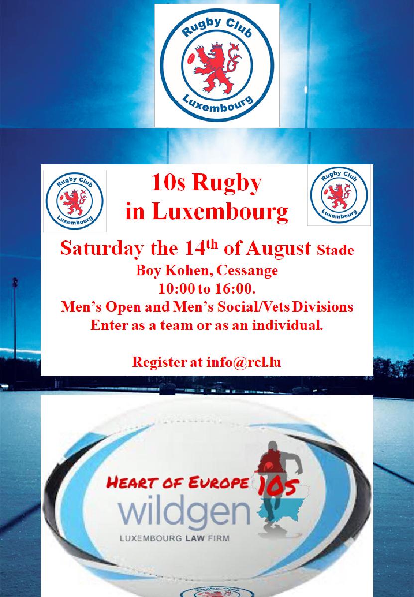 Wildgen 10s Rugby 14th August