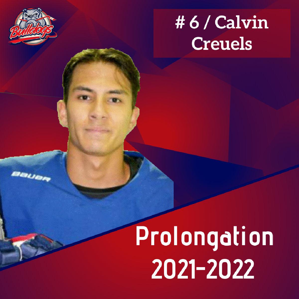 Prolongation pour Calvin Creuels