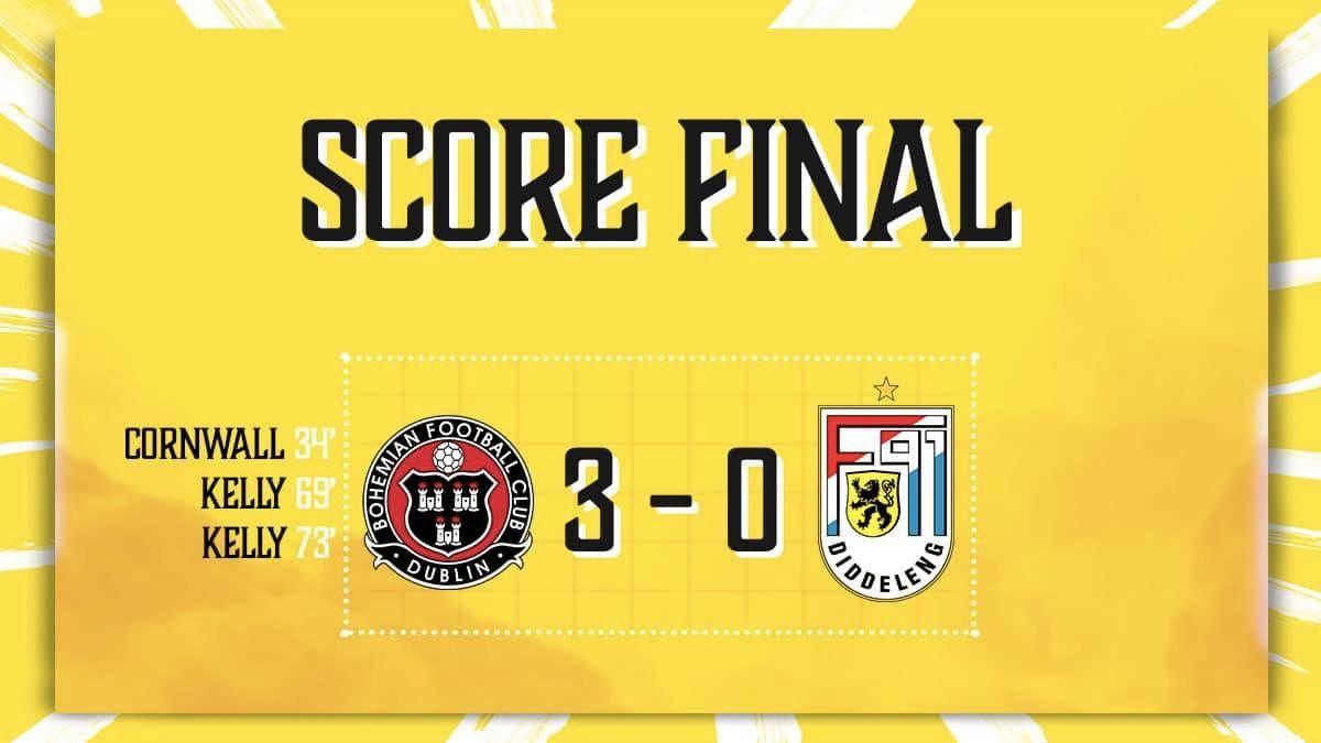 Bohemian FC Dublin - F91 Diddeleng 3-0