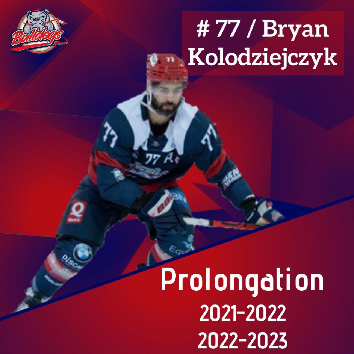 Prolongation Pour Bryan Kolodziejczyk jusqu'en 2023
