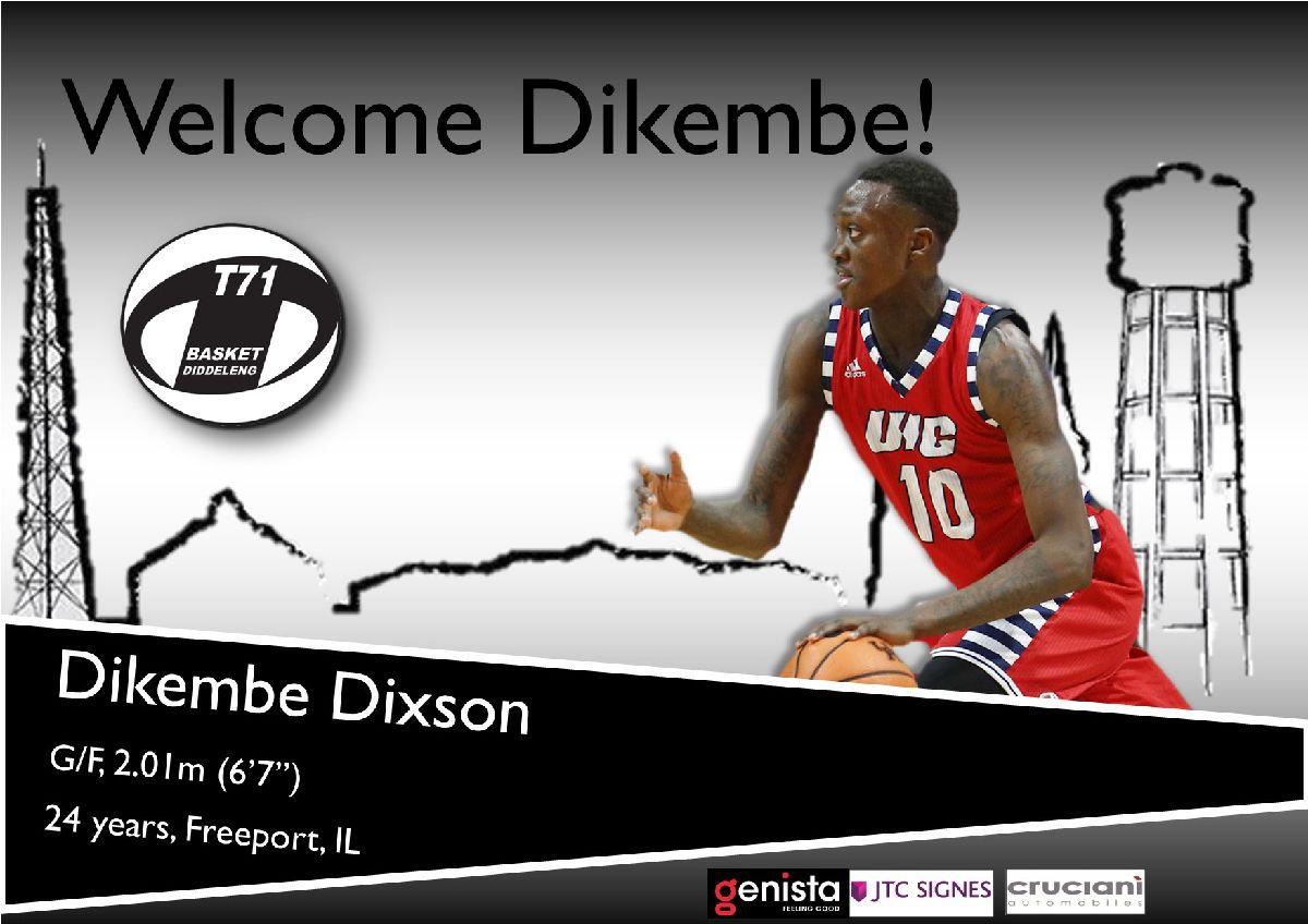 T71 sign Dikembe Dixson