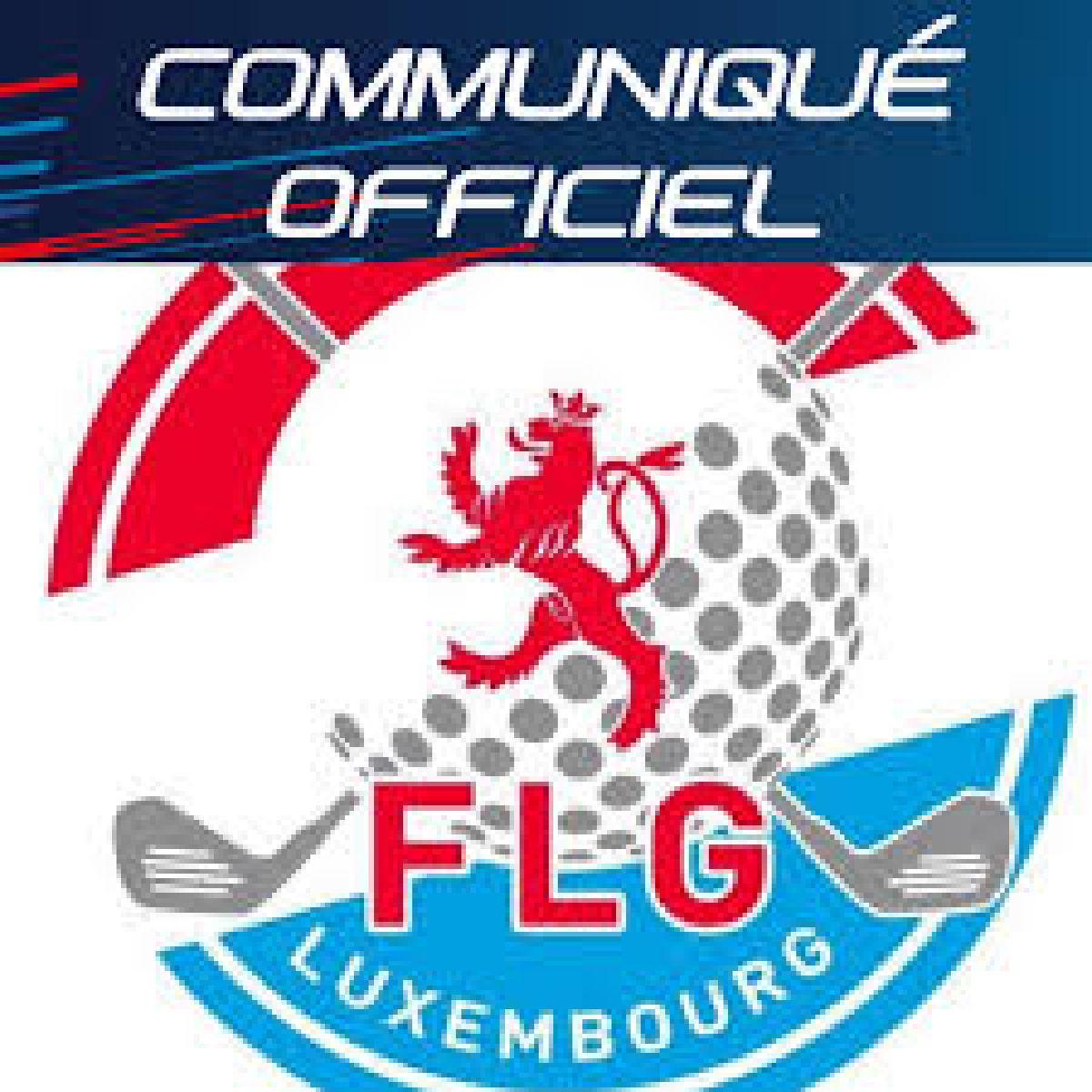 Communiqué du 03.08.2021 - Christnach Golf Club
