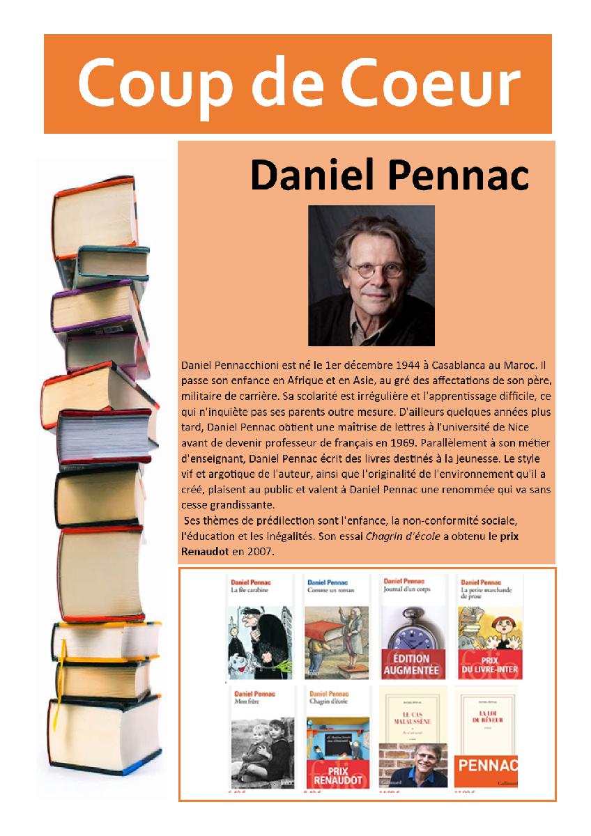 Coup de Coeur 21-08-09 Daniel PENNAC