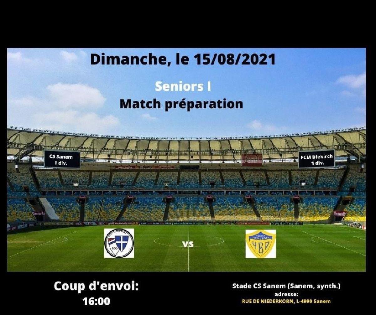 Dernier match de préparation contre Diekirch