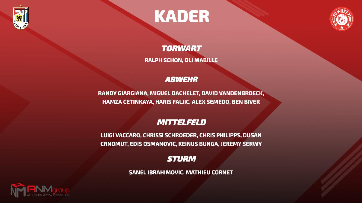 DER KADER GEGEN F91 -> ANPFIFF 20 H IN DIDDELENG