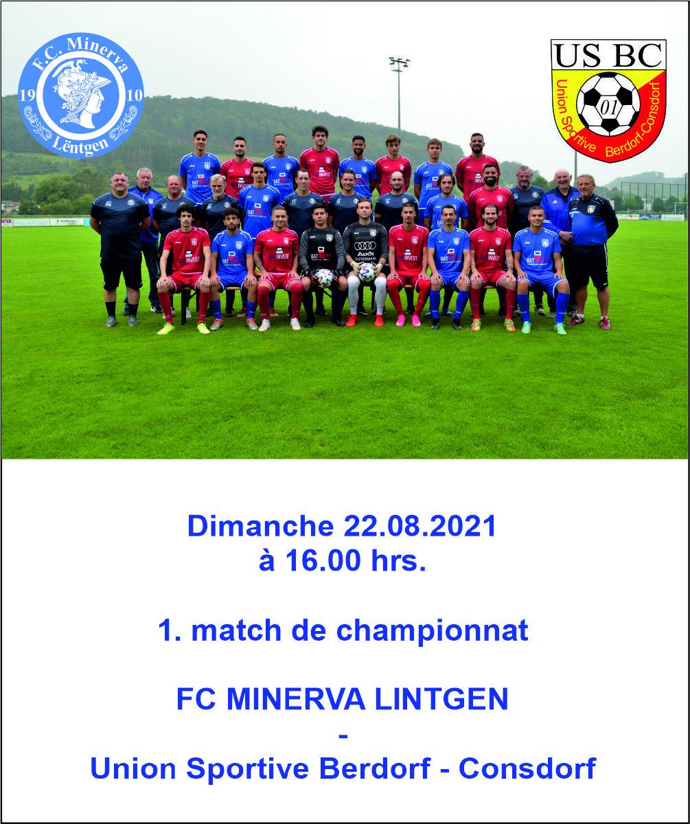 1. match de championnat
