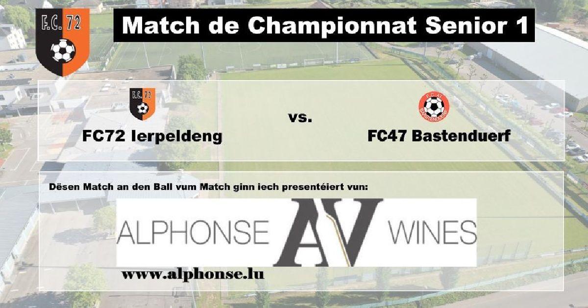FC72 Ierpeldeng vs FC47 Bastenduerf
