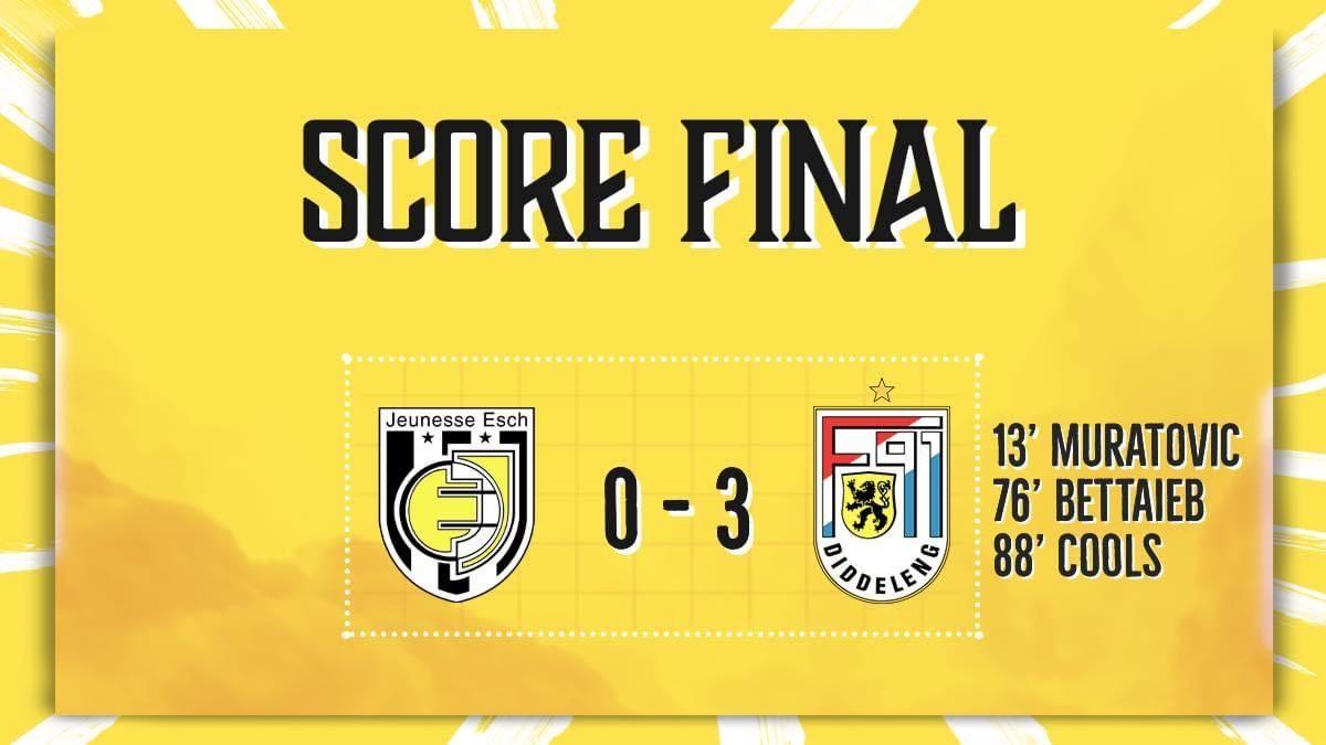 Jeunesse Esch - F91 Diddeleng 0-3 (0-1)