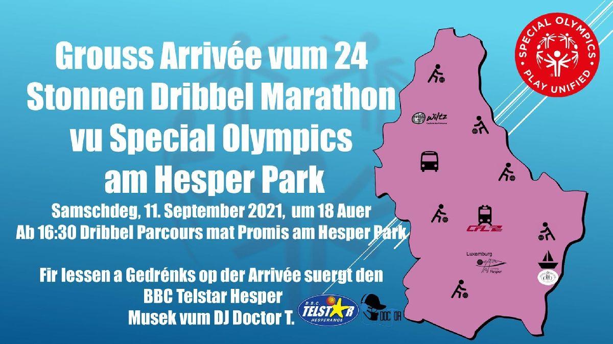 Arrivée vum 24 Stonnen Dribbel Marathon