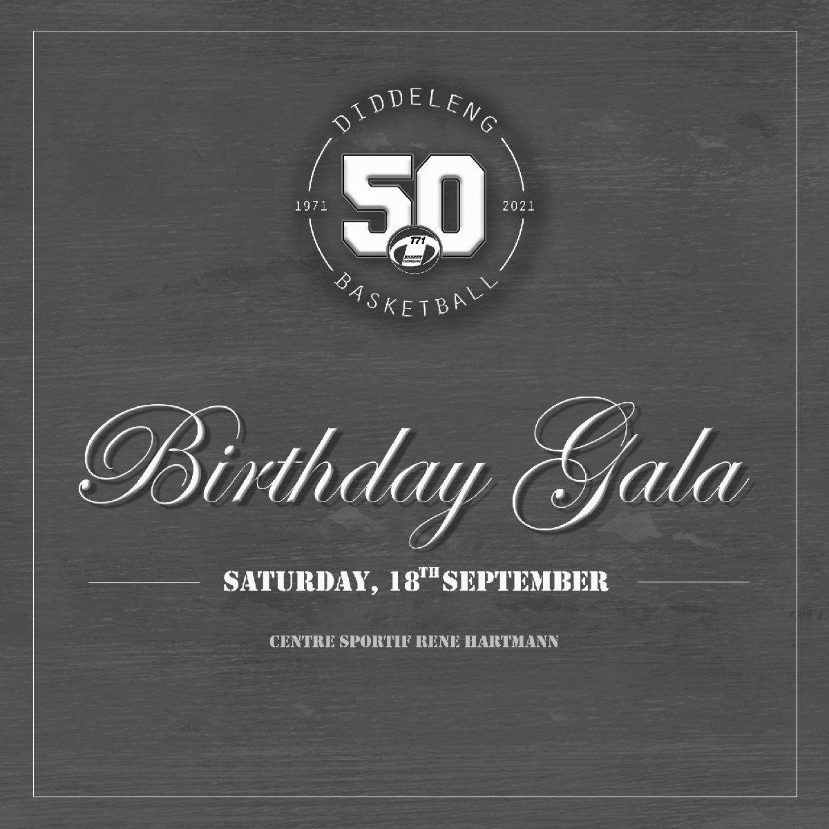Programm zum 50. Gebuertsdag