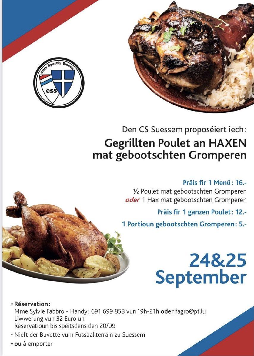 D'Poulets & Haxeniessen ass op e spéideren Datum verluet