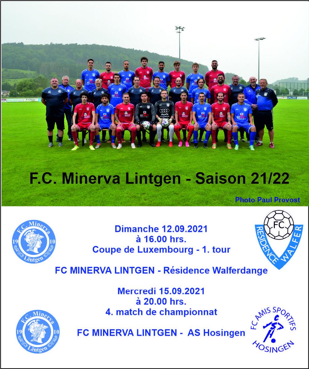 Coupe de Luxembourg & 4. match de championnat
