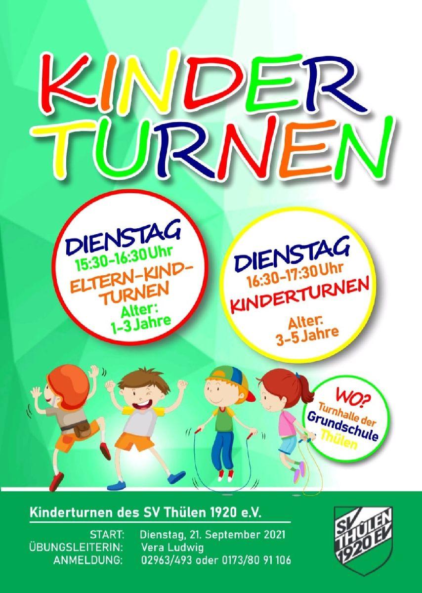Kinderturnen beim SV Thülen ab dem 21.September