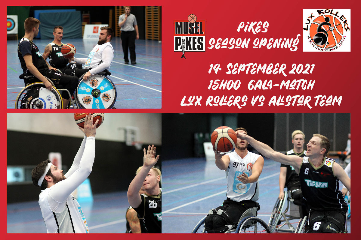 19.09.2021 15H00 Lux Rollers Gala Match um season opening