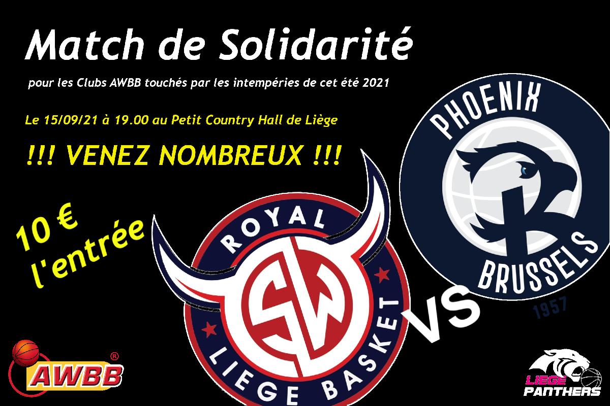 Match de la solidarité ce soir au Bois St-Jean !