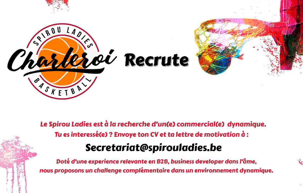 Le Spirou Ladies Charleroi recrute!