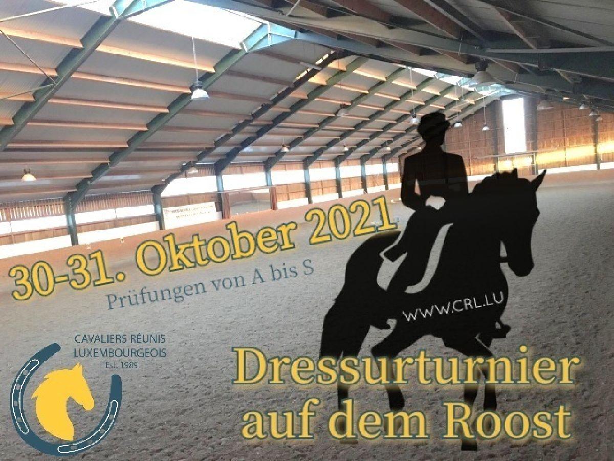 Dressurturnier am 30.-31.10.2021 Halle Roost
