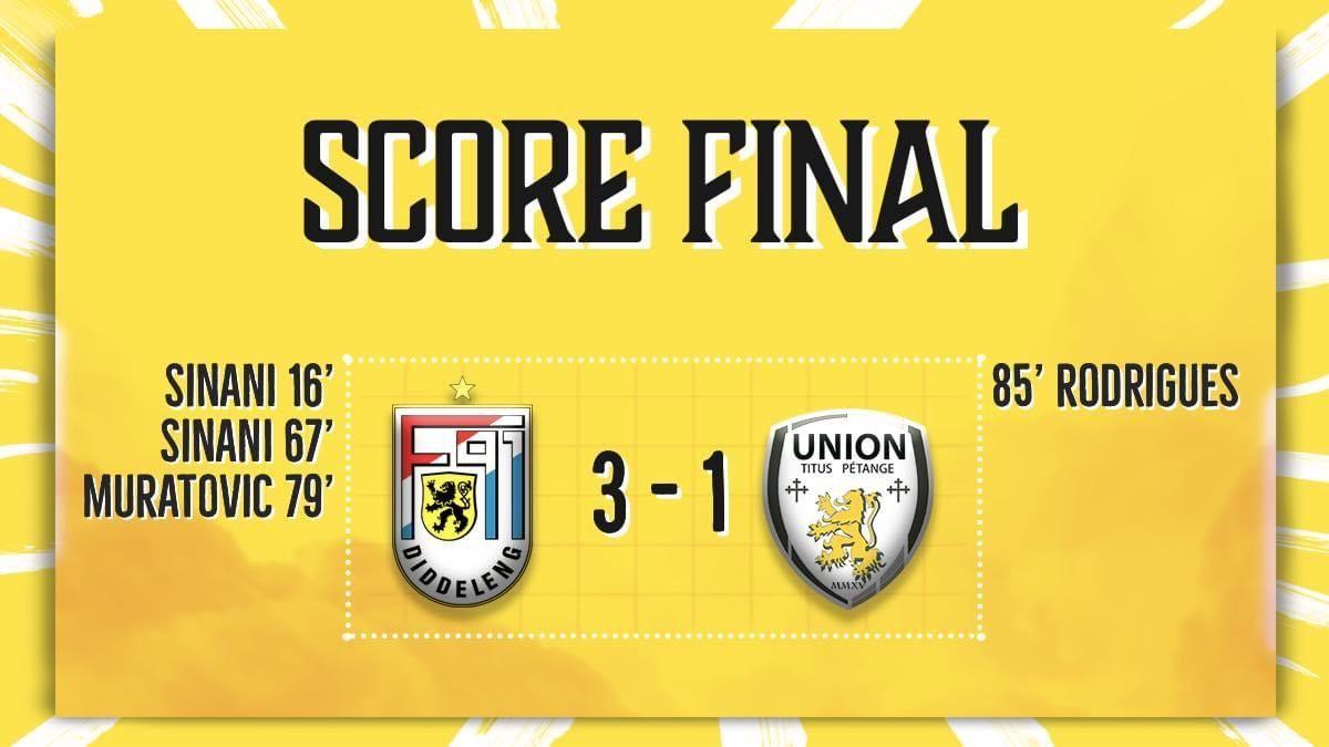 F91 Diddeleng - Union Titus Pétange 3-1 (1-0)