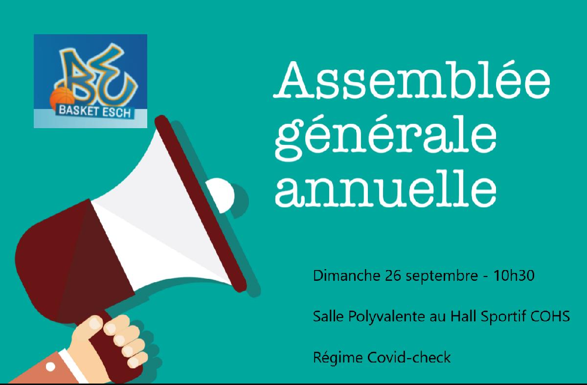 Invitation Assemblée Générale 26.09 à 10h30