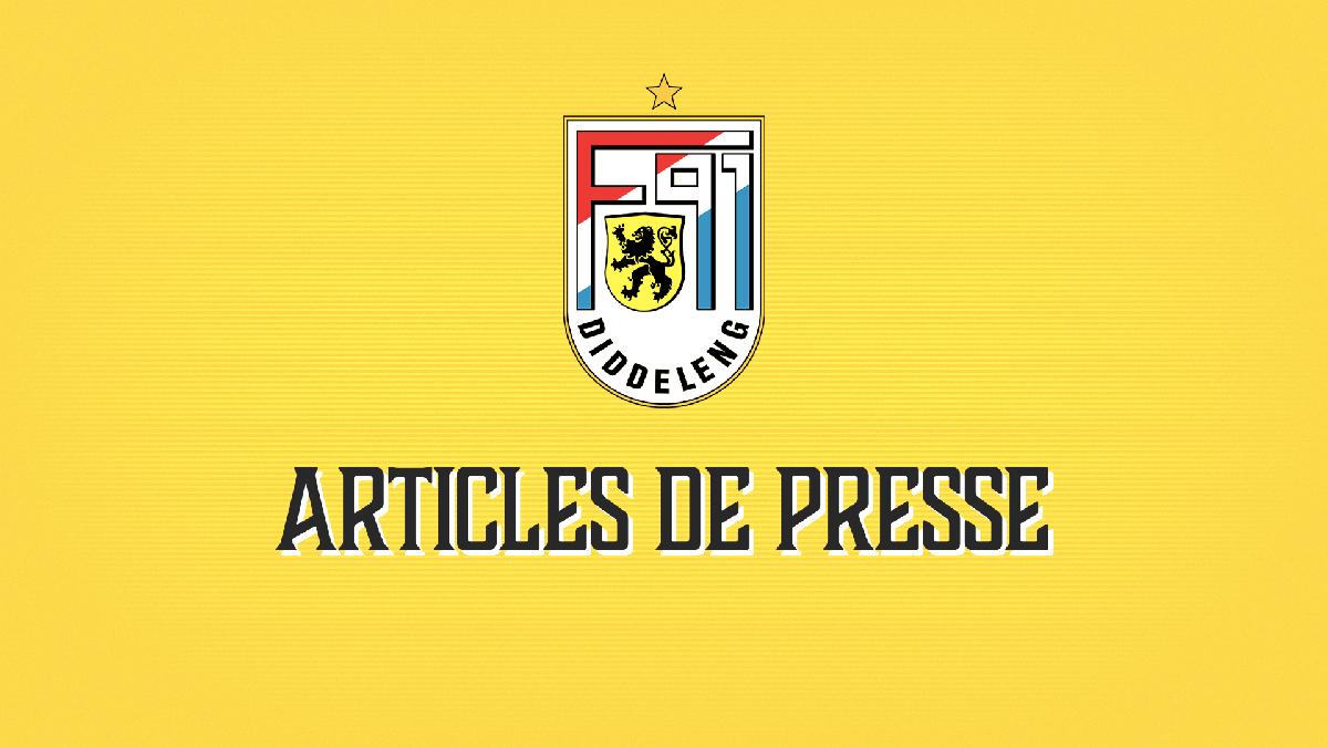 Articles de presse du match à Mondorf
