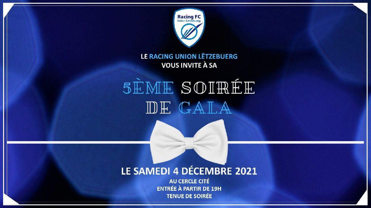 Save the Date ! La soirée de Gala du Racing le samedi 4 décembre 2021 !
