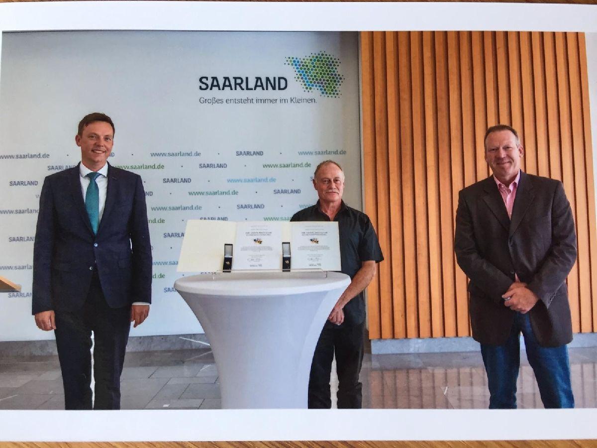 Auszeichnungen für Werner Blass und Roland Grenner vom JC Wemmetsweiler aufgrund außergewöhnlichen ehrenamtlichen Engagements