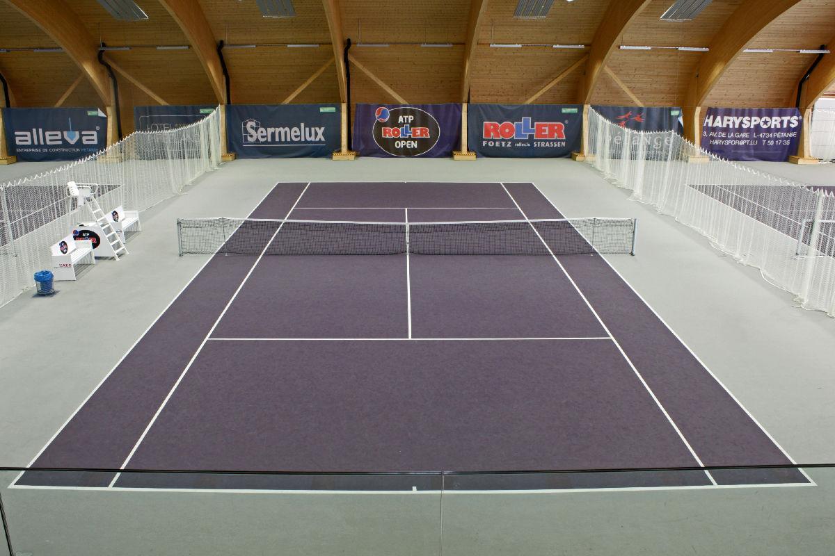 Locations d'un terrain au hall de tennis